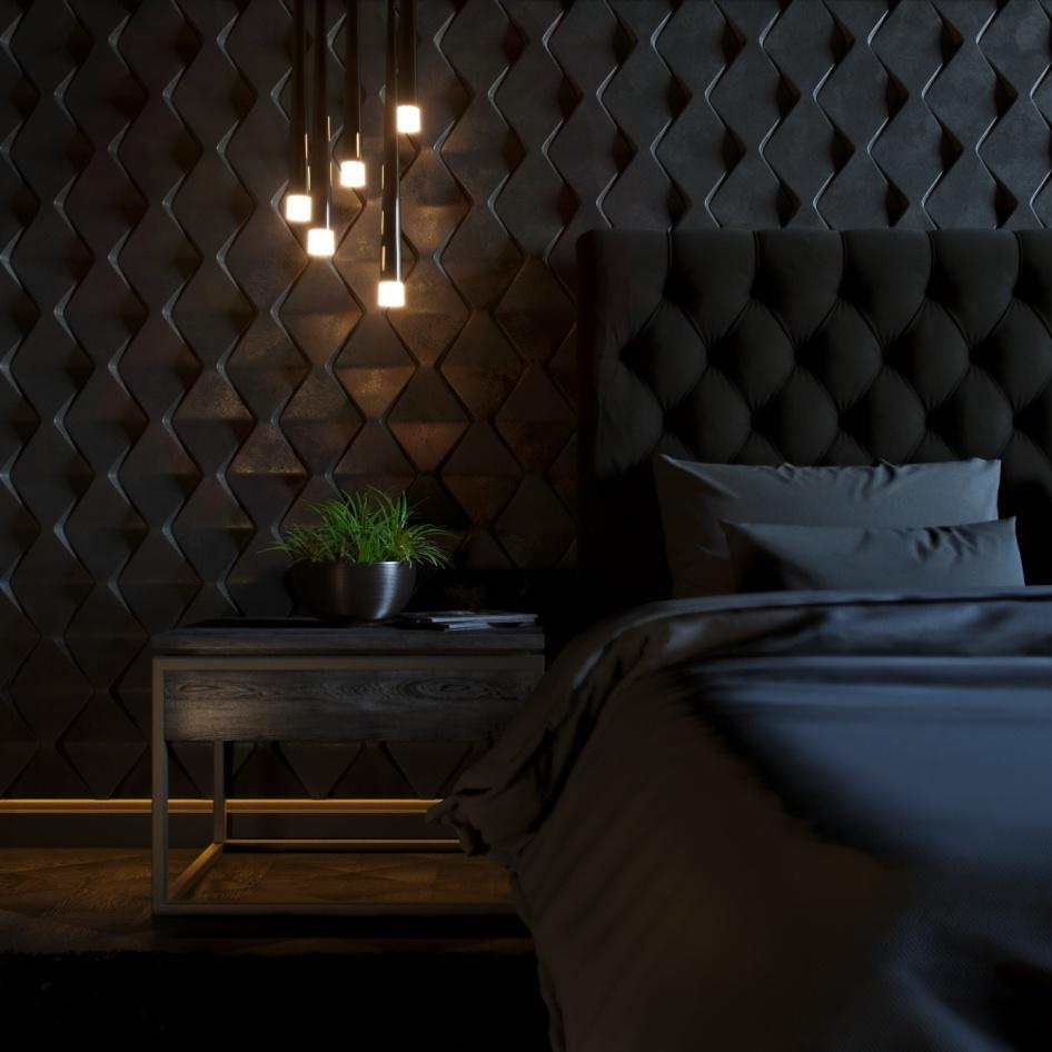 black-interior-design ДЕКОРАТИВНЫЕ СТЕНОВЫЕ ПАНЕЛИ